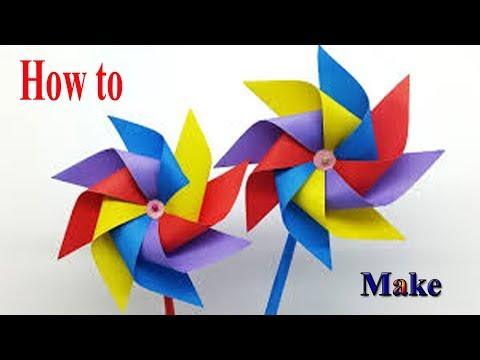 DIY Paper Crafts -- How to Make a Rotating Paper Fan.