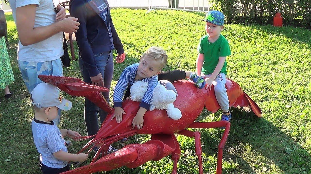 влог лето парк Макс смотрит салют видео для детей