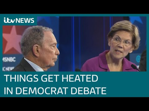 Divided Democrats Get Confrontational In Nevada Debate | ITV News
