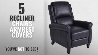 Top 10 Recliner Chairs Armrest Covers [2018]: Giantex PU Leather Recliner Chair Push Back Club