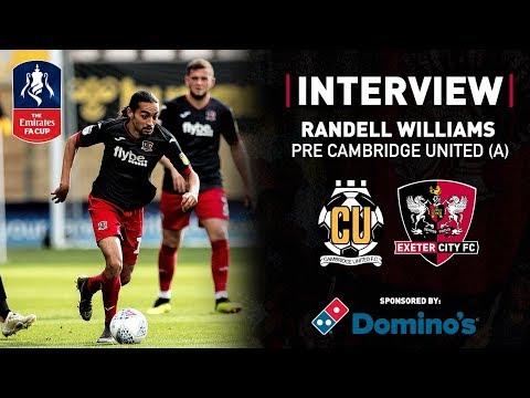 💬 Randell Williams pre Cambridge United in the Emirates FA Cup