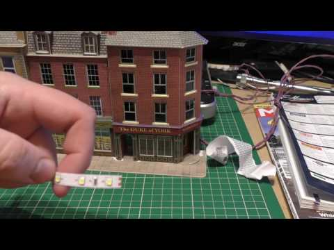 Adding LED light strips to my model railway Building