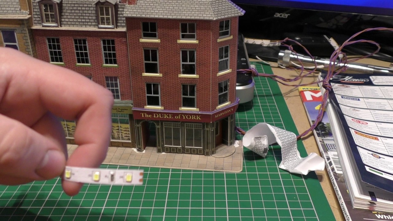 Adding led light strips to my model railway building youtube adding led light strips to my model railway building aloadofball