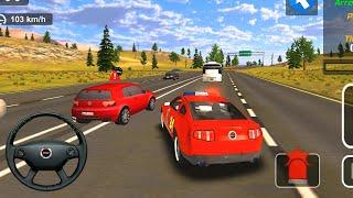 Красная полицейская машина улавливает преступников | Police Car Driver Gameplay | Цветная машина
