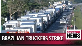 Baixar Brazilian truckers strike for fourth day as diesel tax cuts stall
