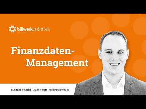 billwerk.tutorial -  Finanzdaten-Management in billwerk 2.0
