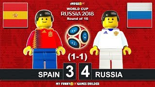 Spain Vs Russia 3 4 1 1 World Cup 2018 Round Of 16 01072018 All Goals Highlights Lego Football