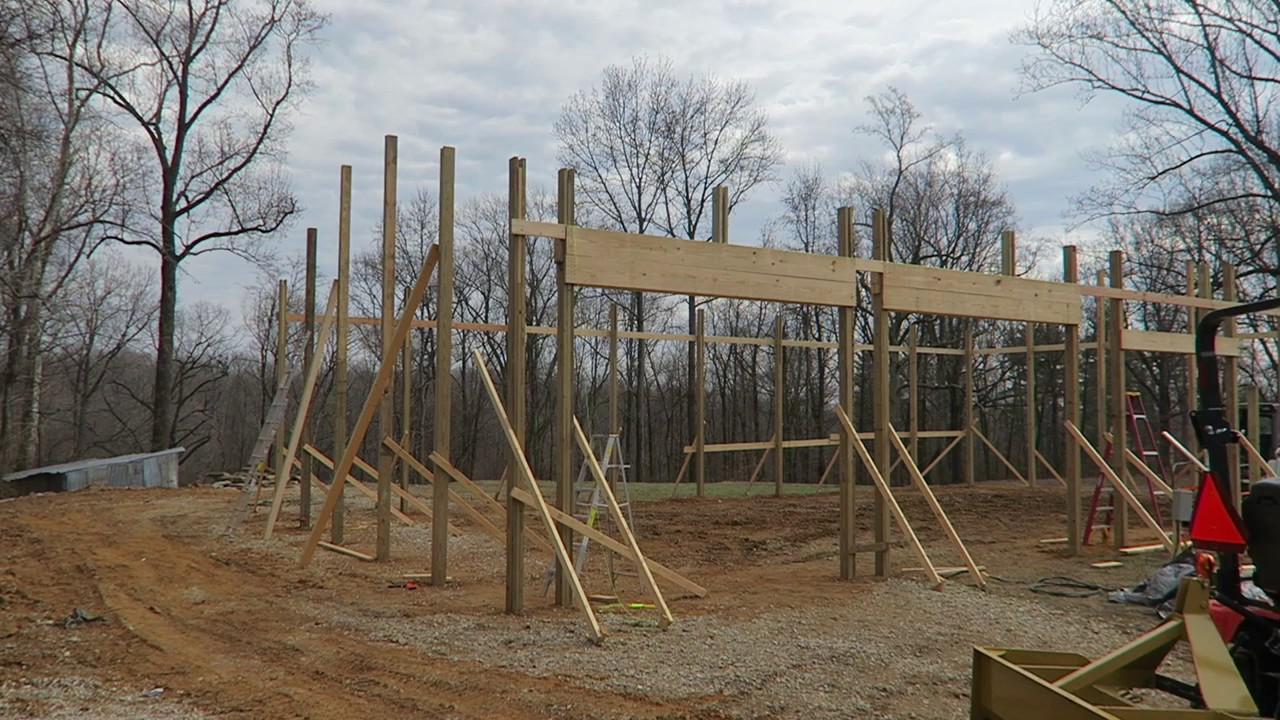 pole barn framing post frame building ep 5 [ 1280 x 720 Pixel ]