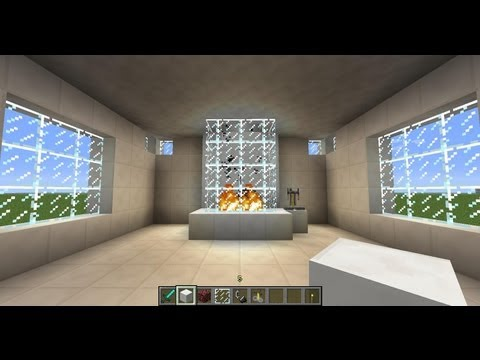 Minecraft - Tuto - Comment Faire Une Cheminée Belle, Moderne Et Design !!!