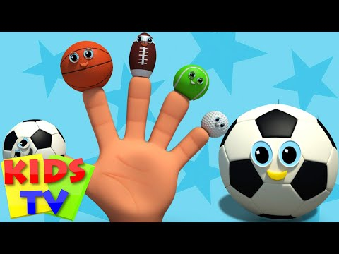 sports ball finger family | nursery rhyme | kids songs | baby videos | kids tv nursery rhymes