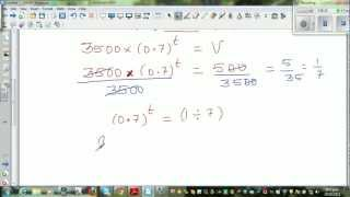 Application of exponential equations - Finding the depreciated value of a computer
