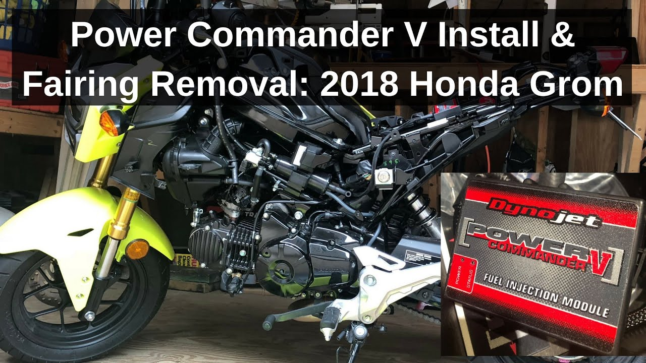 2018 Honda GROM Build Series: Power Commander V (PCV) Install & Fairing  Removal:How-to Guide