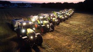 Lohnunternehmen Piening Teil 3 - Strohernte mit Claas Traktoren und neue Maschinen