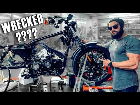 CUSTOM HARLEY DAVIDSON BUILD | MY King Of Custom 883 IRON (PART 2)