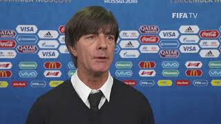 Joachim LÖW – Germany - Final Draw Reaction