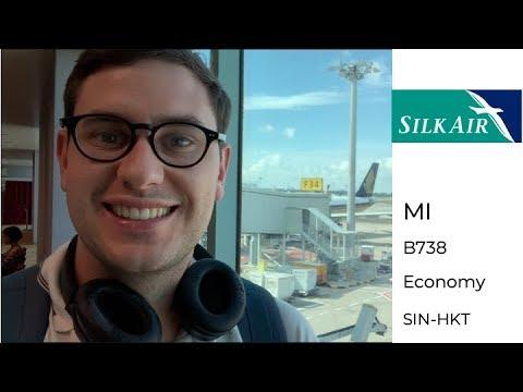 SilkAir Economy Class Boeing 737-800 Singapore to Phuket
