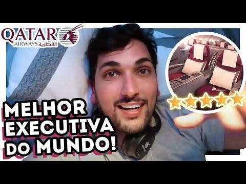 RICO NO AVIÃO! VOANDO BUSINESS na CLASSE EXECUTIVA do BOEING 777 QATAR AIRWAYS - como conseguir?