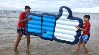 We found a big like at the beach, kids pretend play funny videos for kids