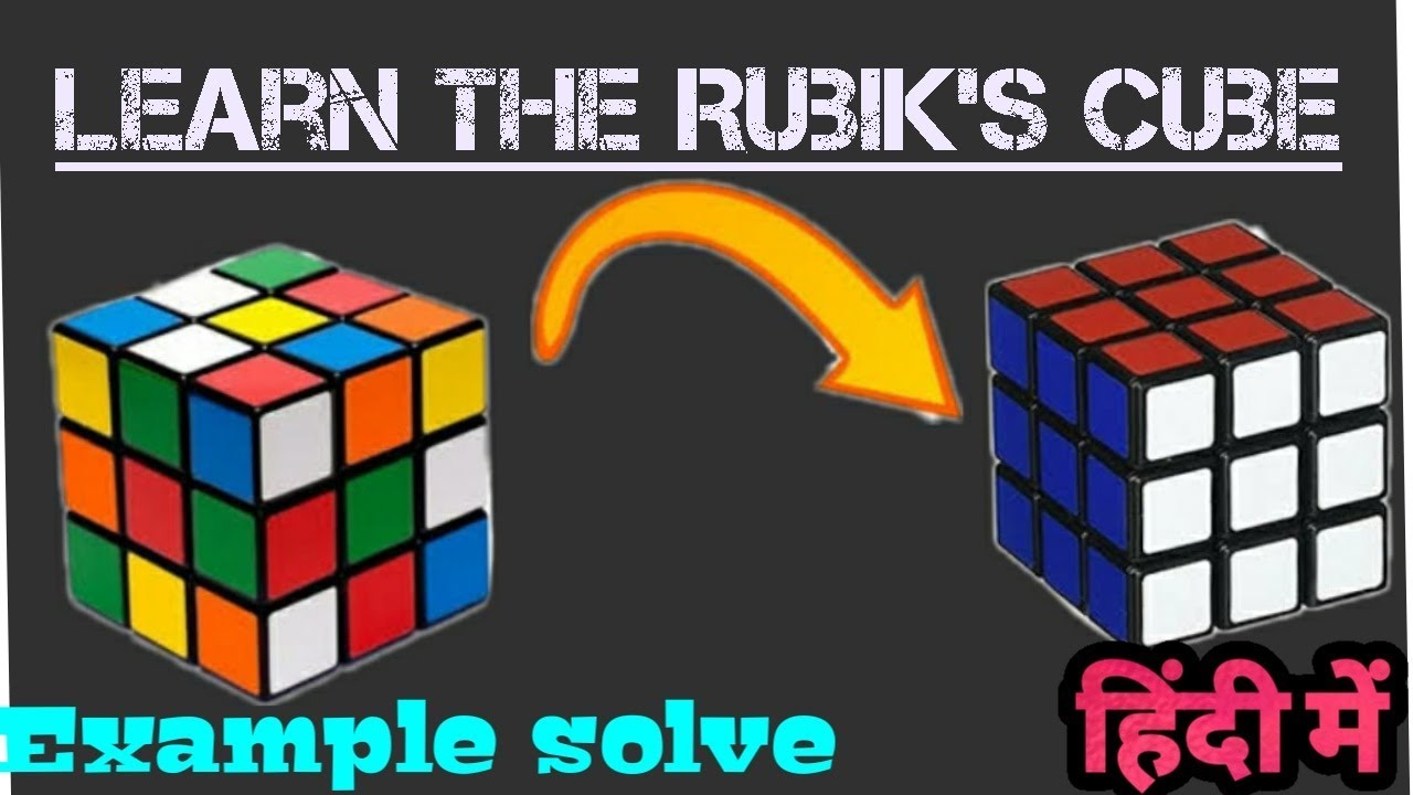 How to solve Rubik's cube | Beginner's method | +Example solve