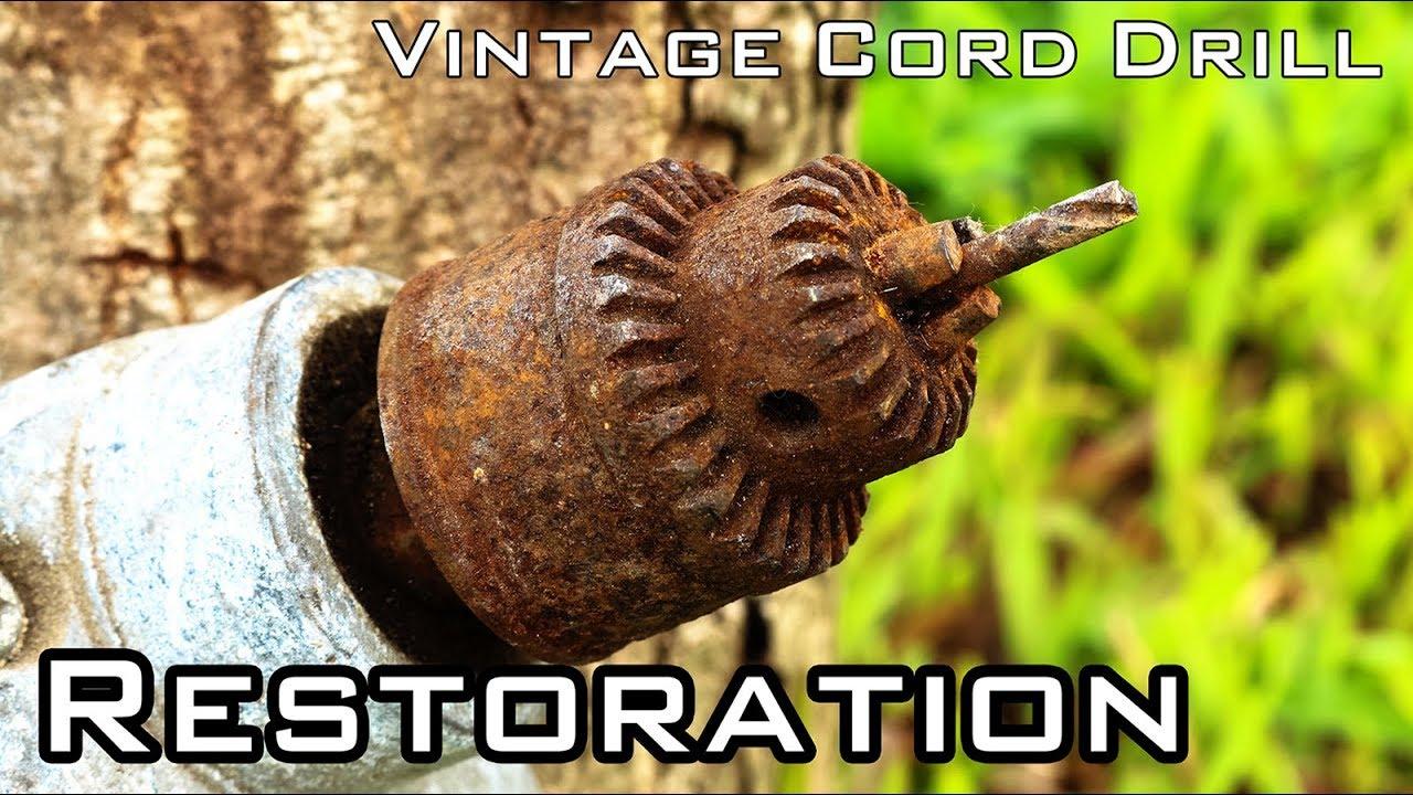 Vintage Cord Drill Restoration National Brand Unknow