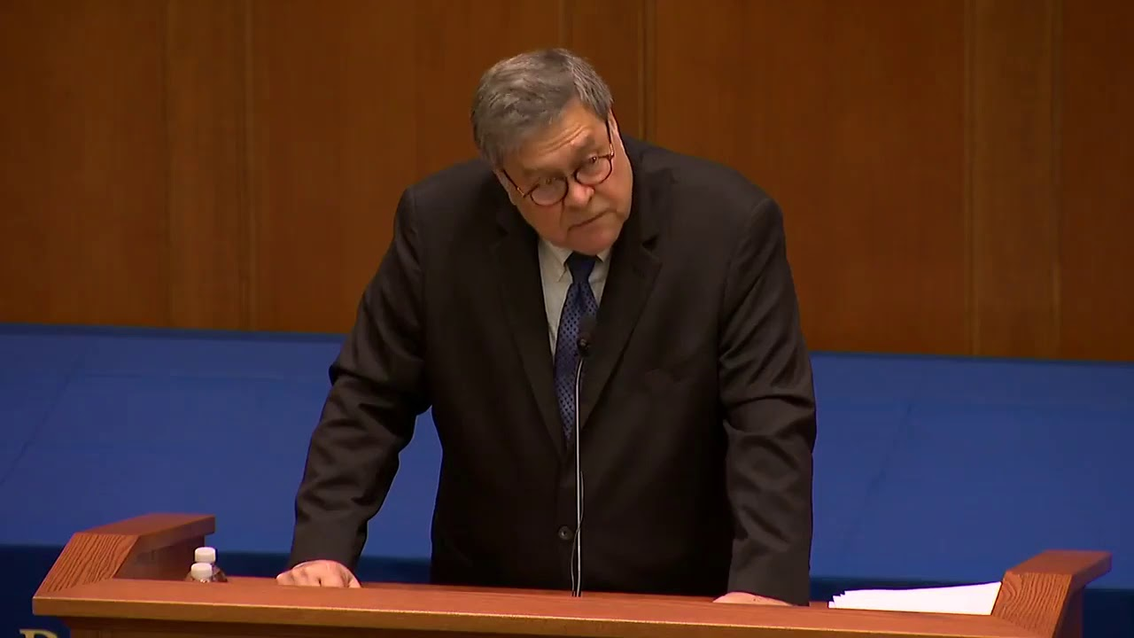 Bill Barr: This is not decay. This is organized destruction.