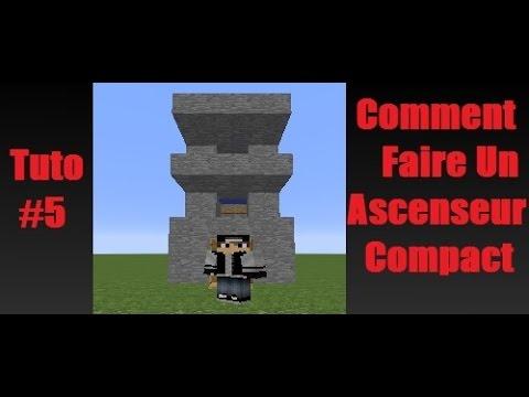minecraft tuto 5 comment faire un ascenseur compact youtube. Black Bedroom Furniture Sets. Home Design Ideas