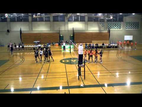 DVC vs College of the Sequoia, volleyball match set 1