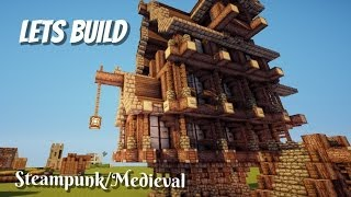 Minecraft Lets Build Medieval Steampunk House Part 1 By