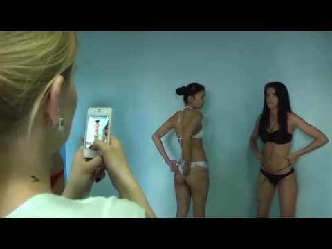 примерка купальников девушки модели - готовимся к дефиле Ootw бикини стринги
