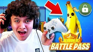 Little Brother Gets *max* Season 8 Battle Pass if he Wins (Fortnite Battle Royale)