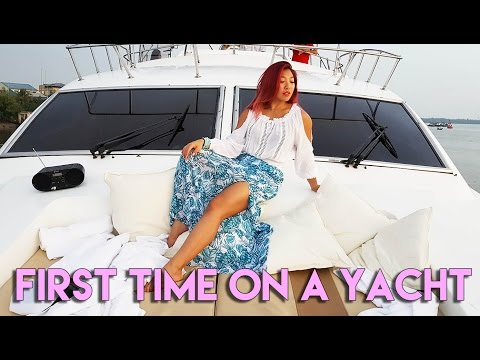 My First Time on A Yacht!!