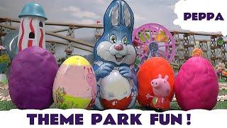Peppa Pig Play Doh Kinder Surprise Eggs Molly Thomas The Tank Hello Kitty Mega Bloks Easter Egg