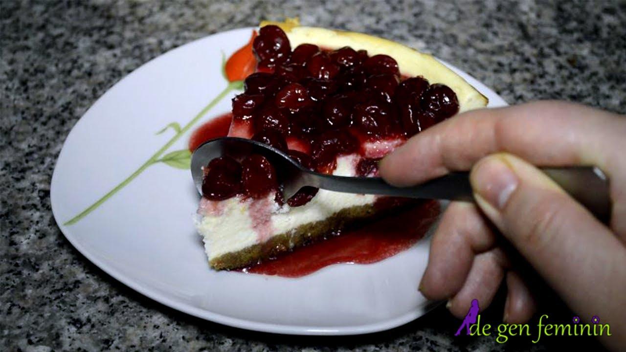 Cheesecake cu branza de vaci si visine