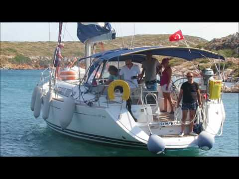 S/Y Symphonie Med-style stern to mooring in Arki Island
