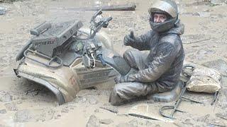 ATVs 2 . Hard ride - dirt and ice in Russia 2. Квадроциклы . Покатушки. ATVclubNorthWay