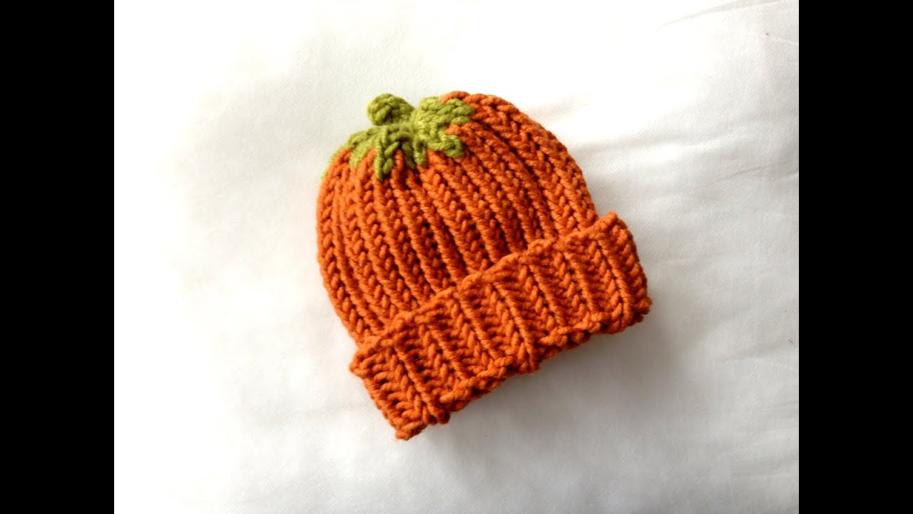 How to Loom Knit a Pumpkin Hat (DIY Tutorial) - YouTube