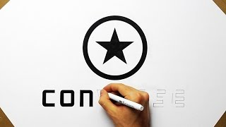 How To Draw Converse #1 Logo - All Stars Fan Art Speed Drawing Como Desenhar