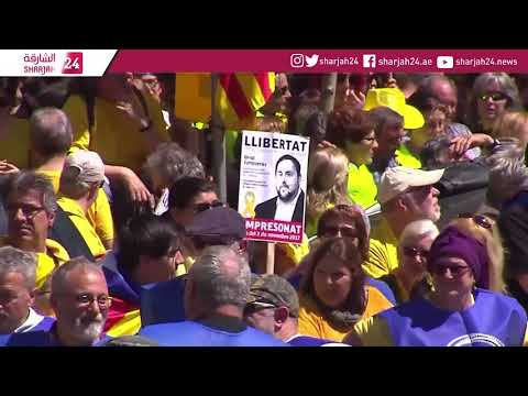 Pro-Catalonia independence protest in Barcelona