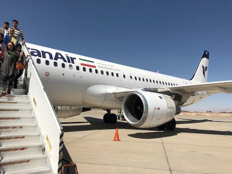 Iran Air A320 taxi takeoff @ flight IR681 DXB-IFN