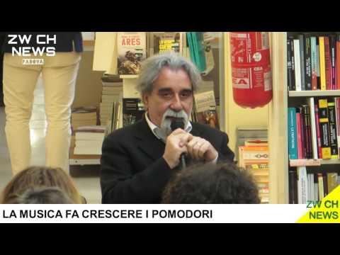 La musica fa crescere i pomodori, Peppe Vessicchio a Padova per presentare il suo libro