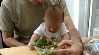 Baby Esper Loves Salad