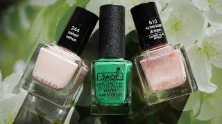 Розово-зеленый маникюр. ANNY 610 и 244, JADE 54