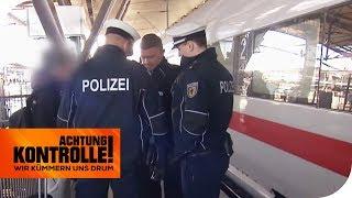 Schwarzfahrer im ICE: Warum will er seinen Ausweis nicht zeigen? | Achtung Kontrolle | kabel eins