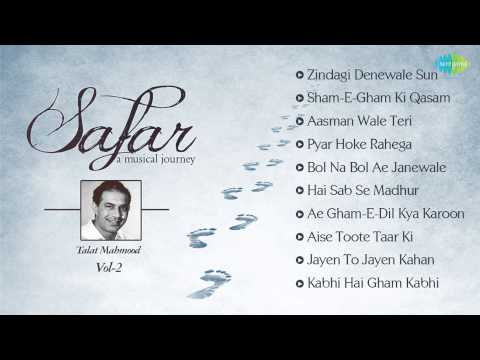 Talat Mahmood Best Songs | Safar - A Musical JourneyJukebox | Zindagi Dene Wale & More Hits