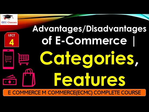 Advantages/Disadvantages  Of E-commerce – Categories And Features Of E-Commerce(Hindi)