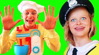 Chef Sockie Counting Vanilla Cake Ingredients with Sneaky Naz | Pretend Play w/ The Norris Nuts