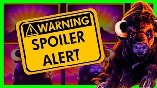 """***SPOILER ALERT*** IS There A """"Tell"""" In BUFFALLO GRAND Slot Machine? Watch & Learn W/ SDGuy1234"""
