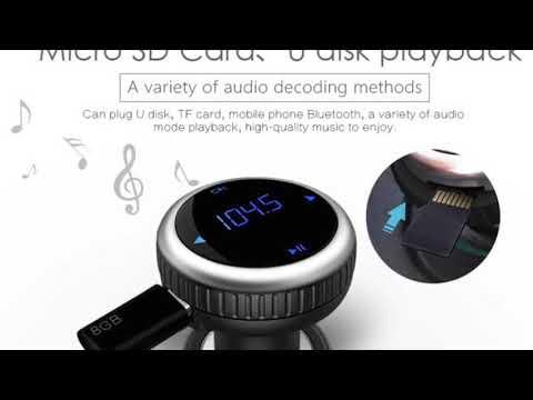 AGPtek Wireless In-Car Bluetooth 4.2 FM Transmitter Radio Adapter Car Kit
