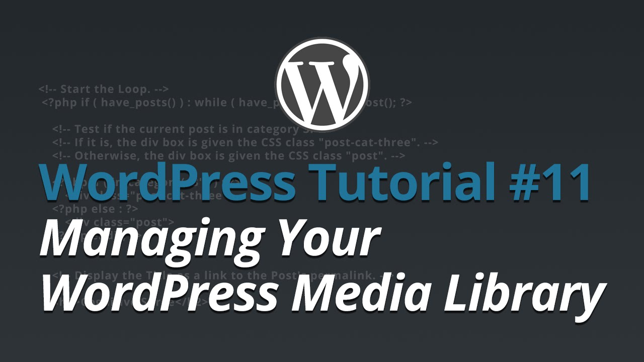 WordPress Tutorial - #11 - Managing Your WordPress Media Library