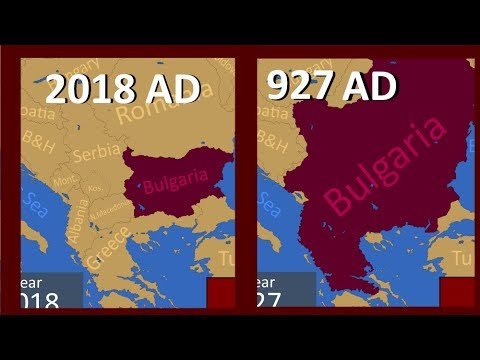 The Countries of The BALKANS at Their GREATEST extents